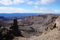 Volcanic Landscape at Tongariro National Park - New Zealand Stock Image