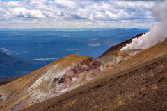 Volcanic landscape view at Tongariro national park, New Zealand Royalty Free Stock Images