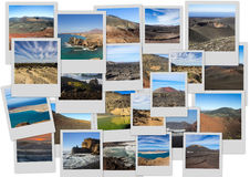 Volcanic landscapes of Lanzarote Royalty Free Stock Image