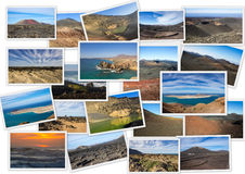 Volcanic landscapes of Lanzarote Stock Photo