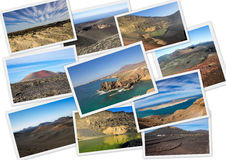 Volcanic landscapes of Lanzarote Stock Image