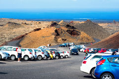 Volcanic landscapes in Timanfaya, Lanzarote stock photography