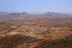 Volcanic Lanscape. Panoramic view on Fuerteventura Royalty Free Stock Photography