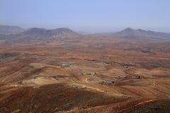 Volcanic Lanscape. Panoramic view on Fuerteventura Royalty Free Stock Photos