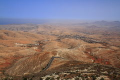 Volcanic Lanscape. Panoramic view on Fuerteventura Stock Image