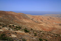 Volcanic Lanscape. Panoramic view on Fuerteventura Royalty Free Stock Images