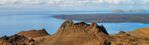 Volcanic lansdscape in Bartolome island Royalty Free Stock Photography