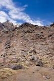 Volcanic lava. Wall of volcanic lava on slopes of Mount Ruapehu. Tangoriro National royalty free stock photos
