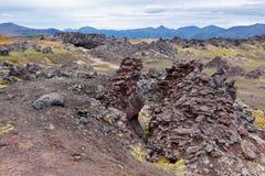 Volcanic lava Stock Image