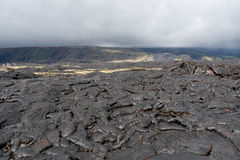 Volcanic lava field. Stock Photos