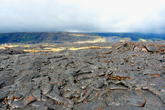 Volcanic lava field Royalty Free Stock Photos