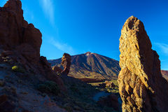 Volcanic lava landscape on Teide Royalty Free Stock Photo