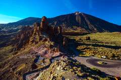 Volcanic lava landscape on Teide royalty free stock images
