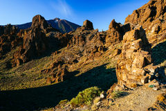 Volcanic lava landscape on Teide Stock Photos