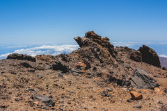 Volcanic lava landscape of Tenerife Stock Photo