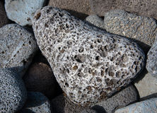 Volcanic lava rocks Royalty Free Stock Image