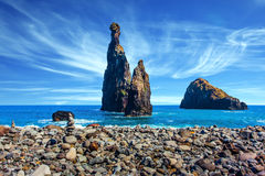 Volcanic Madeira in the Atlantic Ocean Royalty Free Stock Images