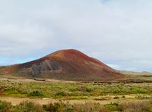 Volcanic mountain north of Lajares on Fuerteventura Royalty Free Stock Image