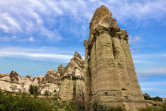 Volcanic mountains, Cappadocia, Anatolia, Turkey. Goreme nationa Royalty Free Stock Photo