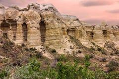 Volcanic mountains in Cappadocia, Anatolia, Turkey. Goreme nationa Royalty Free Stock Images