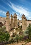 Volcanic mountains in Cappadocia, Anatolia, Turkey. Goreme national park Royalty Free Stock Image