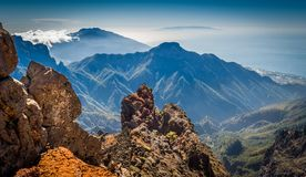 Volcanic mountains landscape. Royalty Free Stock Photos