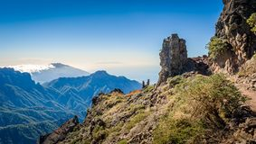 Volcanic mountains landscape. Royalty Free Stock Image