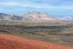 Wild volcanic landscape at Timanfaya National Park, Lanzarote Is Stock Photos