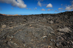 Volcanic mountains at Lanzarote Island, Canary Islands, Spain Royalty Free Stock Photography