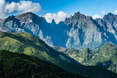 Volcanic mountains of Madeira island Royalty Free Stock Image