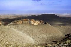 Volcanic mountains at Timanfaya Royalty Free Stock Photo