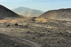 Volcanic valley at Timanfaya National Park Royalty Free Stock Images