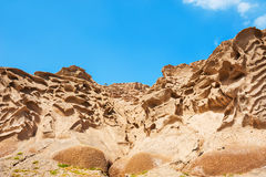 Volcanic mountains of white pumice Stock Images