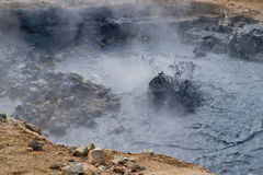 Volcanic mud hole Royalty Free Stock Image