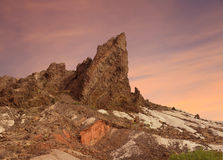 Volcanic Outcropping , Big Bend National Park. VolcanicFormation at Sunset, Big Bend National Park Stock Photos