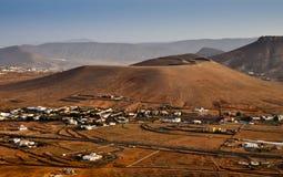Volcanic panorama of Fuerteventura island Stock Image