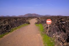 Volcanic park Timanfaya Stock Photos