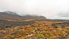 Volcanic Plains on a Cloudy Day Royalty Free Stock Images
