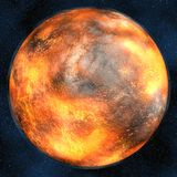 Volcanic planet Royalty Free Stock Image