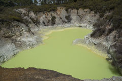 Volcanic pool. New Zealand Royalty Free Stock Image