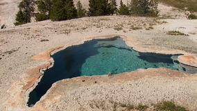 Volcanic Pool in Yellowstone stock footage