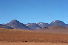 Volcanic range in Atacama Desert, Chile Stock Photos