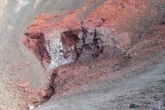 Volcanic red lava crater royalty free stock photo