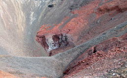 Volcanic red lava crater royalty free stock images