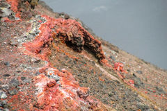 Volcanic red lava stock photography