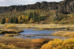 Volcanic Rift Valley - Pingvellir - Iceland Stock Images