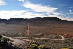 Volcanic road - Reunion Island. Curvy road to the volcano - Reunion island Stock Photo
