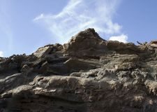 Volcanic Rock. Igneous rock formation on Lanzarote royalty free stock photography