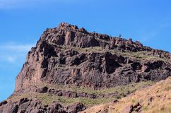 Volcanic Rock Basaltic Formation in Gran Canaria. Canary Islands stock image
