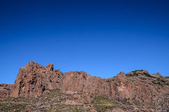 Volcanic Rock Basaltic Formation in Gran Canaria Royalty Free Stock Photography